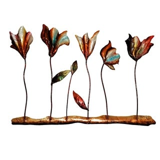 Five Flower Metal Wall Art (Philippines)