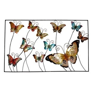 Framed Butterlies Metal Art Wall Art (Philippines)
