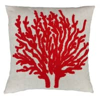Fashion Street Coral Reef 18-inch Square Ivory Deco Throw Pillows (Set of 2)