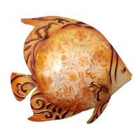 Handmade Orange Fish Metal Art Wall Decor