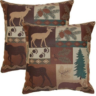 Summit Evergreen 19-inch Throw Pillows (Set of 2)