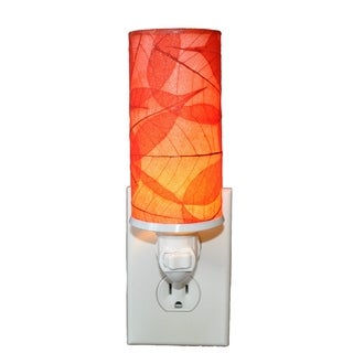 Handmade Eangee Cylinder Red Nightlight (Philippines) (Option: Red)