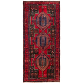 ecarpetgallery hand knotted Persian Ardabil red wool rug (5'1 x 11'2)