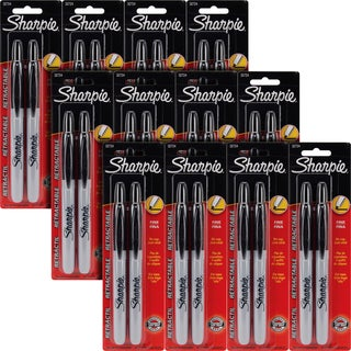 Sharpie Retractable Black Ink Fine Point Permanent Markers