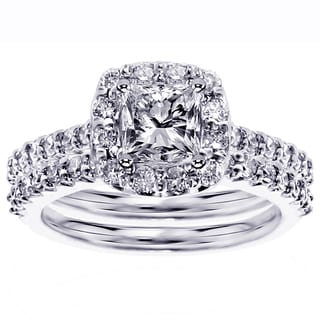 Platinum 2 1/10ct TDW Diamond Bridal Ring Set