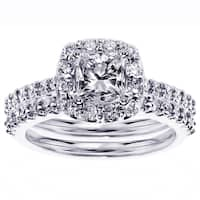 Platinum 2 1/10ct TDW Diamond Bridal Ring Set