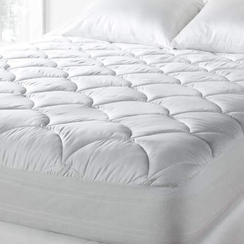Tommy Bahama 300 Thread Count Cotton Sateen Easy Care Mattress Pad - White