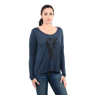 Halston Heritage Long Sleeve with Sketch Print