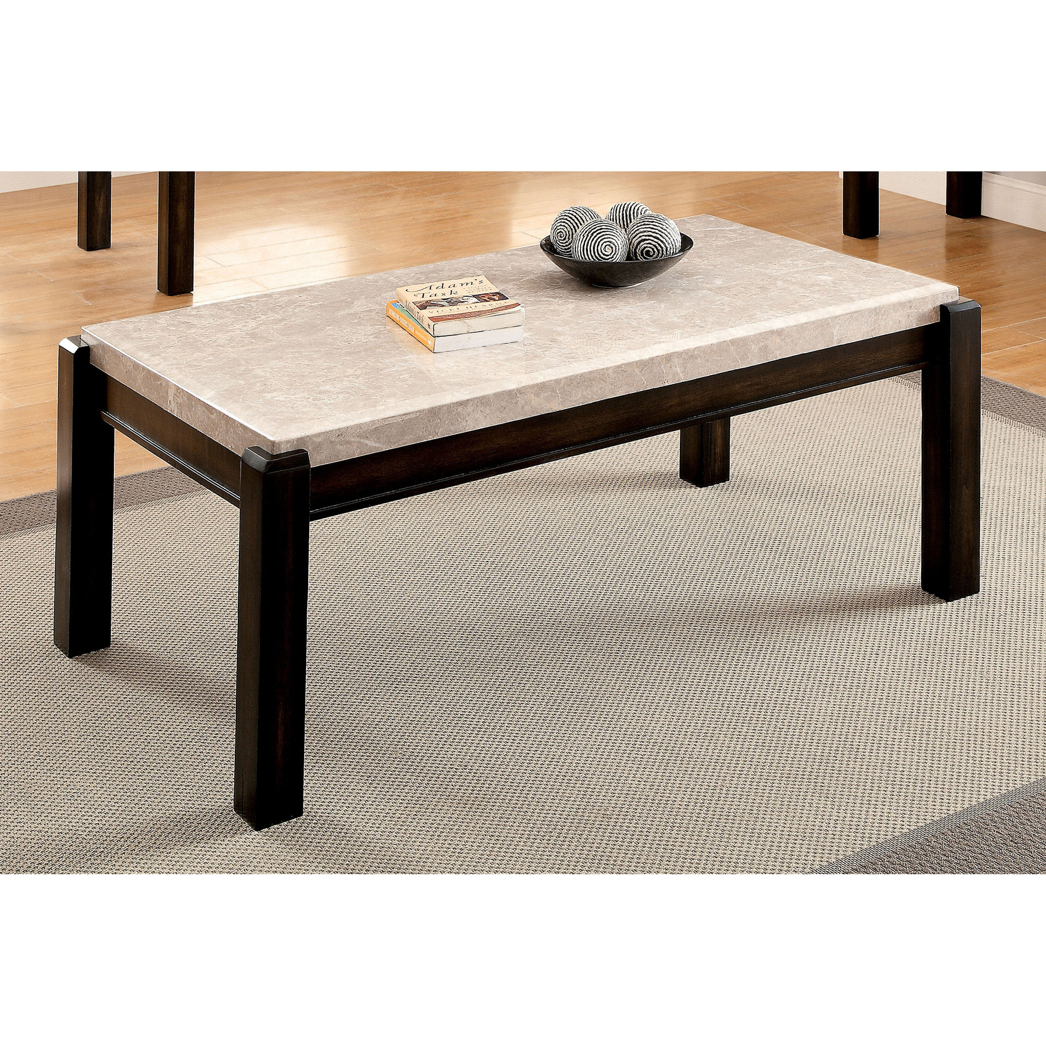 Furniture Of America Fons Contemporary Solid Wood Coffee Table
