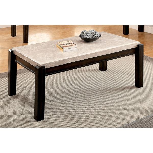 Marque Genuine Marble Top Coffee Table: Shop Furniture Of America Leslie Genuine Marble Top Coffee