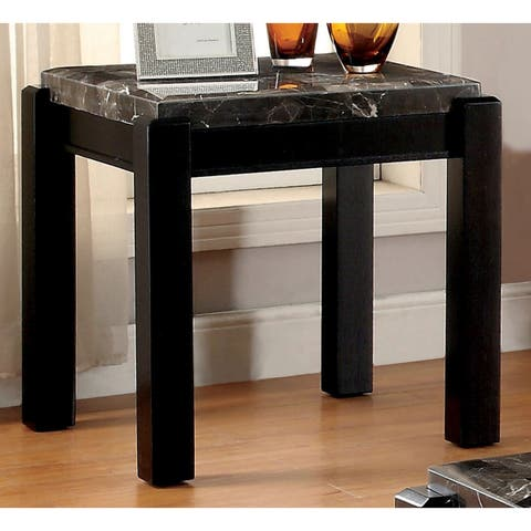 Strick & Bolton Sueda Marble Top End Table