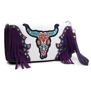 Dasein Longhorn Fringed Wallet (Option: Purple)