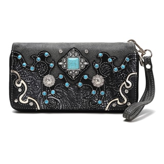 Dasein Turquoise Accent Concho Wallet