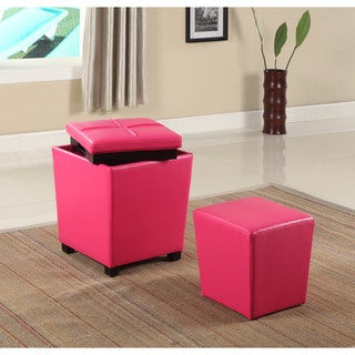 2-in-1 Storage Ottoman with Stool