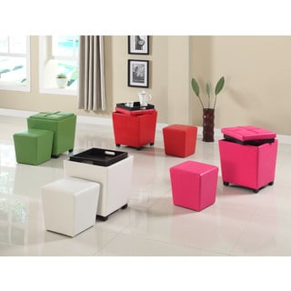 2 In 1 Storage Ottoman With Stool