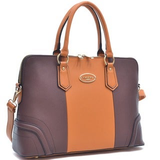 Dasein Colorblock Satchel Briefcase Handbag with Removable Shoulder Strap