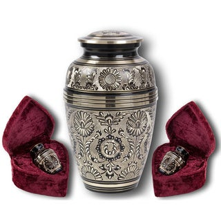 Star Legacy Eternal Ring Brass Cremation Urn 3-piece Set