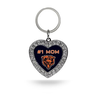 NFL Chicago Bears #1 Mom Heart Rhinestone Key Chain