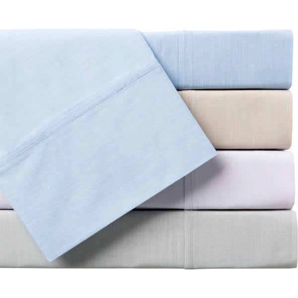 Beautiful Things Home-Union Square Percale-Cotton Yarn-Dyed Sheet Set
