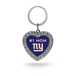 NFL New York Giants #1 Mom Heart Rhinestone Key Chain