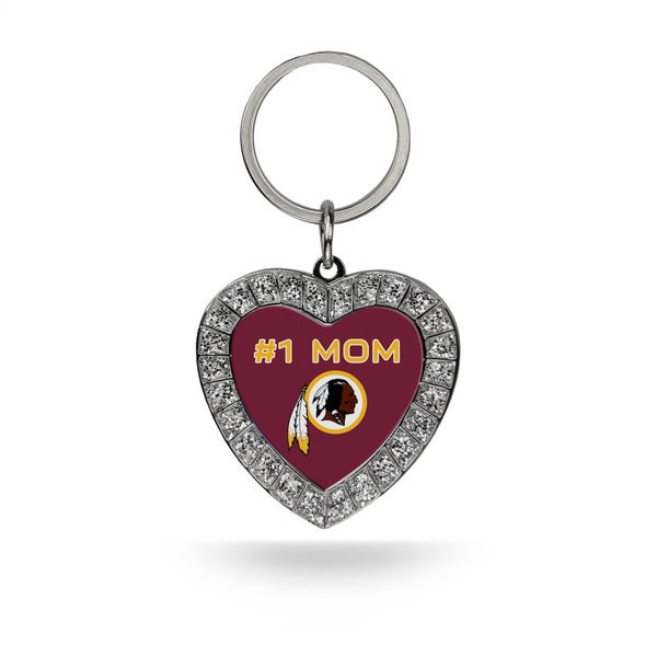 NFL Washington Redskins #1 Mom Heart Rhinestone Key Chain