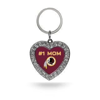 NFL Washington Redskins #1 Mom Heart Rhinestone Key Chain