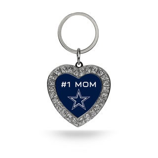NFL Dallas Cowboys #1 Mom Heart Rhinestone Key Chain