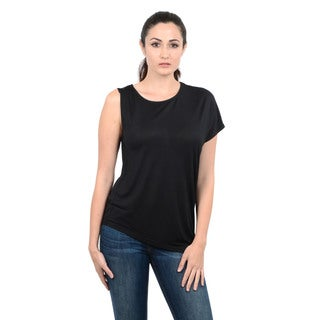 Halston Heritage Solid Asymmetrical Knit T-Shirt