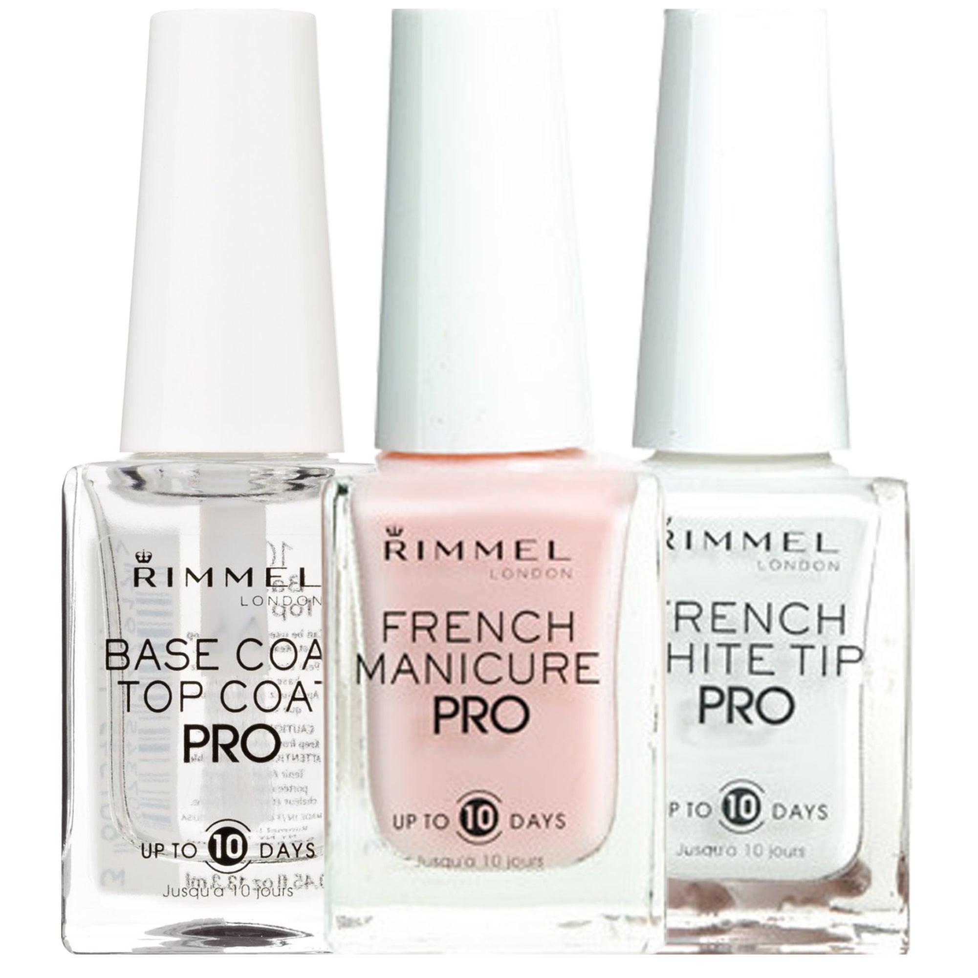 Shop Rimmel Lasting Finish Pro Nail Enamel French Manicure 3 Piece