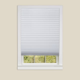 1-2-3 White Shade Vinyl Room Darkening Pleated Shades
