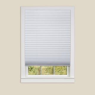 Achim 1-2-3 White Shade Vinyl Room Darkening Pleated Shades