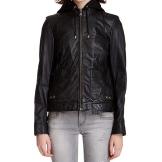 Andrew Marc Women's Black Leather Vera Jacket