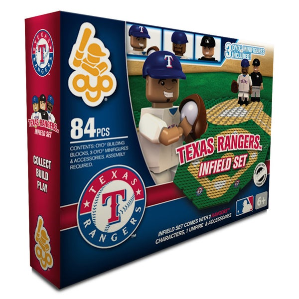 Texas Rangers MLB 84-piece Infield Set 2.0