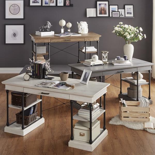 Barnstone Cornice 1-drawer Storage Writing Desk by iNSPIRE Q Artisan