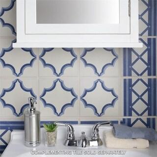 SomerTile 7x7-inch Grava Quatro Ara Cenefa Porcelain Floor and Wall Tile (Case of 4)