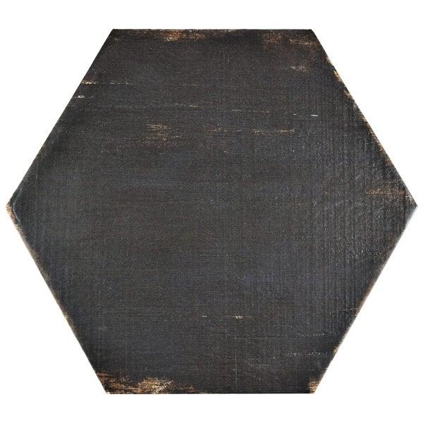 Somertile lambris negre hex porcelain for 16 inch floor tiles