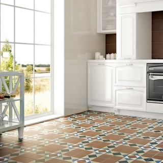SomerTile 13x13-inch Narcissus Cotto Porcelain Floor and Wall Tile (Case of 10)