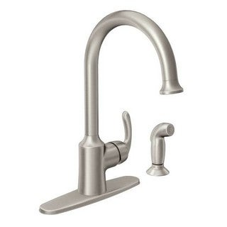 Moen Bayhill Single Hole Kitchen Faucet 87301SRS Spot Resist Stainless