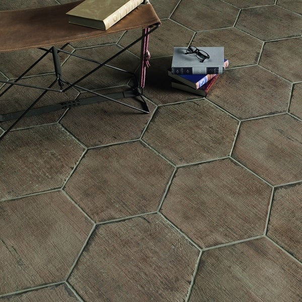 Beautiful 12X12 Black Ceramic Tile Tall 12X24 Tile Floor Flat 150X150 Floor Tiles 18 Ceramic Tile Old 24 X 24 Ceramic Tile Dark24X24 Floor Tile SomerTile 14.125x16.25 Inch Lambris Terra Hex Porcelain Floor And ..