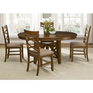Bistro Honey Brown Oval X Base 48x66 Dinette Table