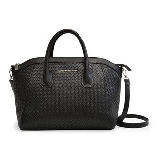 Adrienne Vittadini Woven Medium Satchel Crossbody Handbag