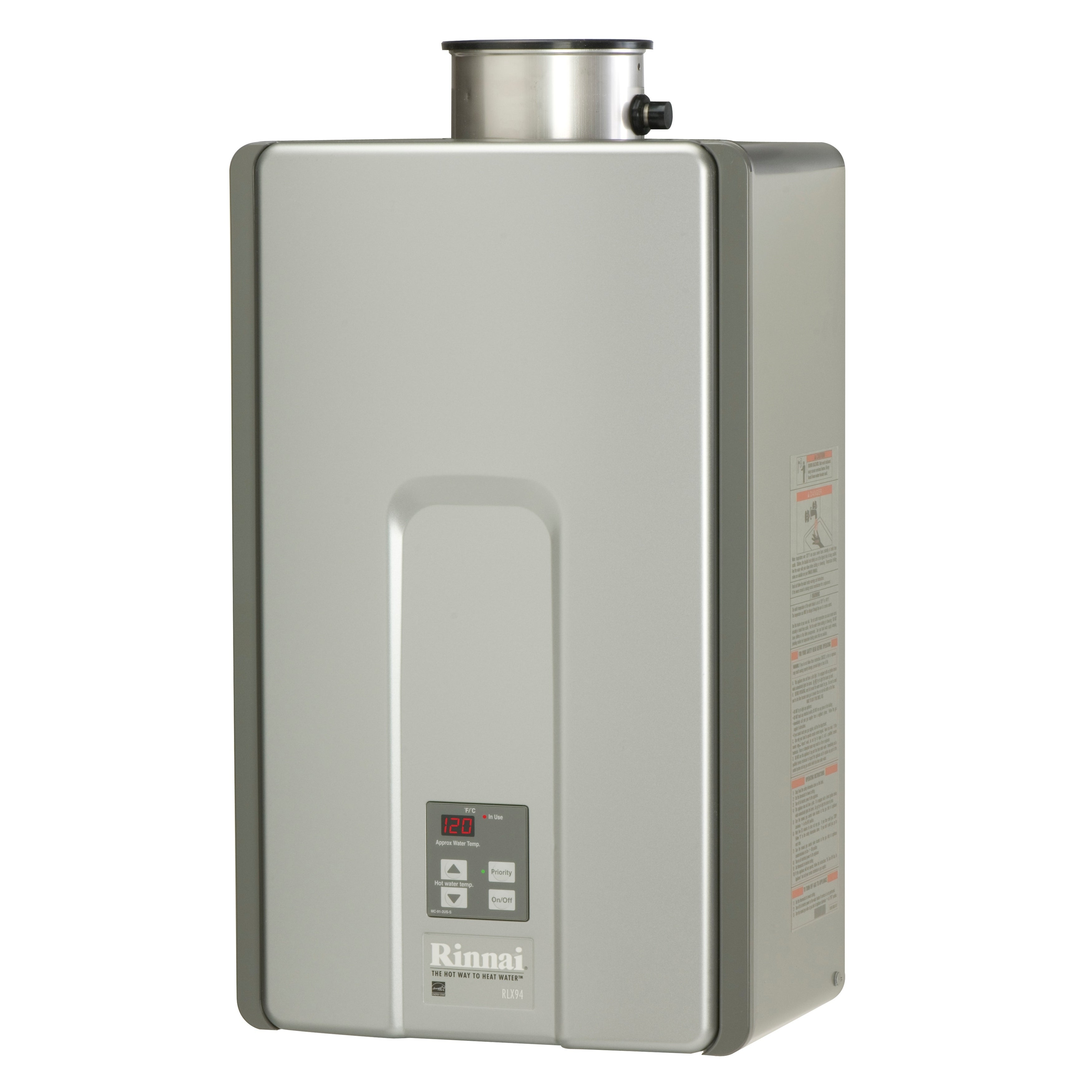 Rinnai Luxury Tankless Water Heater RLX94iN - Silver (Sil...