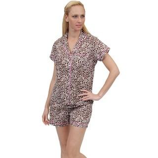 La Cera Women's Printed Short PJ Set