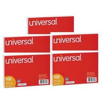 Universal Ruled Index Cards 4 x 6 White 5 Packs of 100
