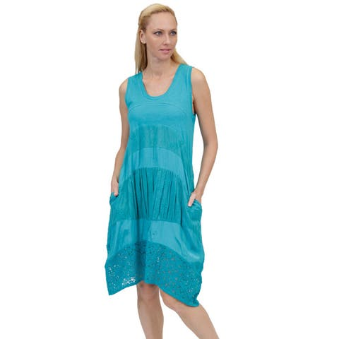 La Cera Women's Sleeveless Dress