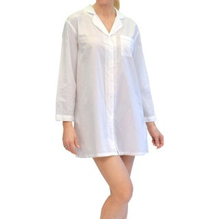 La Cera Women's Long Sleeve Nightshirt