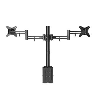 Loctek D2d Full Motion Swing Dual Monitor Arm Extension Desk Mount Stands Fits Most 10-27 Inches Lcd Computer Screens