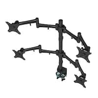 Loctek D2d Full Motion Swing Quad Monitor Arm Extension Desk Mount Stands Fits Most 10-27 Inches Lcd Computer Screens