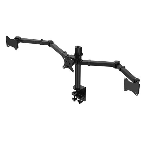 Fleximounts D1t Full Motion Triple Monitor Arm Desk Mount Stand Fits 10 - 27-inch Lcd Computer Monitor