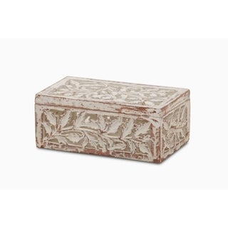 Antique Box with Leaves Carved